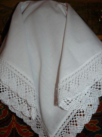 Кърпа за глава с дантела