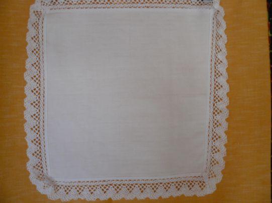 Памучна кърпа с дантела