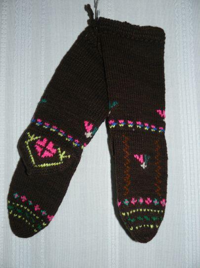 Шарени вълнени чорапи