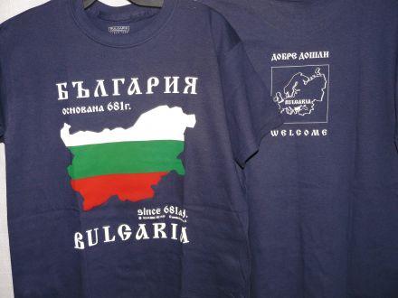 """Тениска с """"Карта-знаме на България"""""""