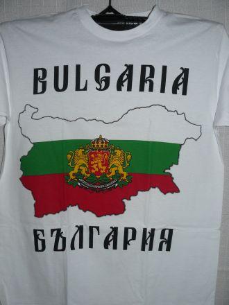 """Тениска """"Карта-знаме и герб на България"""""""