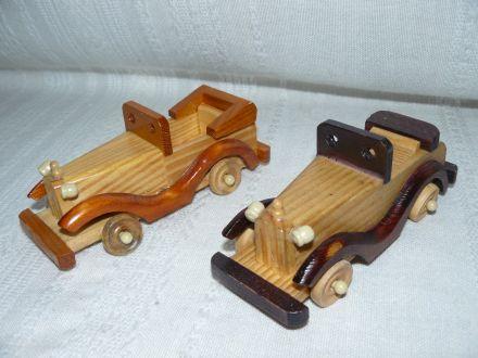 Дървена количка малка