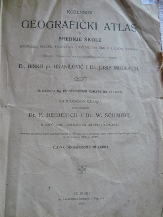 Географски атлас на хърватски език