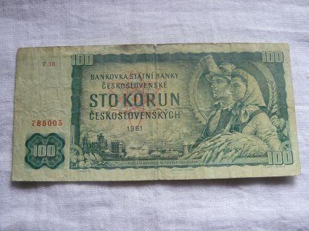 100 чешки крони 1961г.